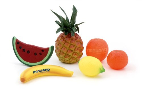 Miniland Exotic Fruit Assortment, 6-Pieces In Polybag front-786537