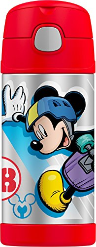 Thermos Funtainer 12 Ounce Bottle, Mickey Mouse (Straw Insulation Cup compare prices)