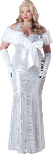 InCharacter Costumes, LLC Plus-Size Seductive Starlet, Silver, 3X-Large