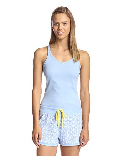Jane & Bleeker Women's Favorite Tank & Short Pajama Set  [Dolphin]