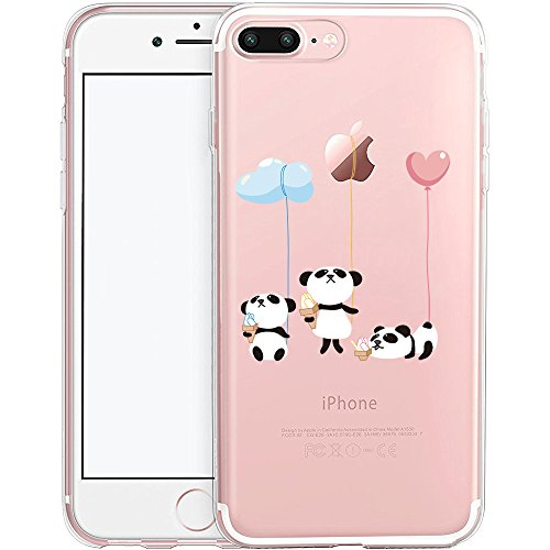 iPhone 7 Plus Case, SwiftBox Cute Cartoon Case for iPhone 7 Plus (Panda and Balloon) (Panda Bear Phone Case compare prices)