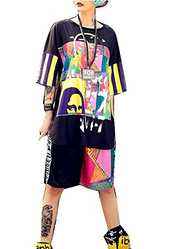 Iot Ltd Women's Jazz Dance Costume Hip-Hop Skateboard Sports Leisure Suit