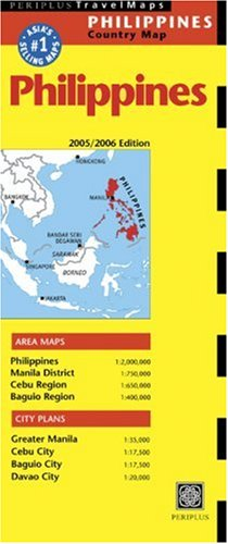 Philippines Travel Map: 2005/2006 Edition (Periplus Travel Maps)