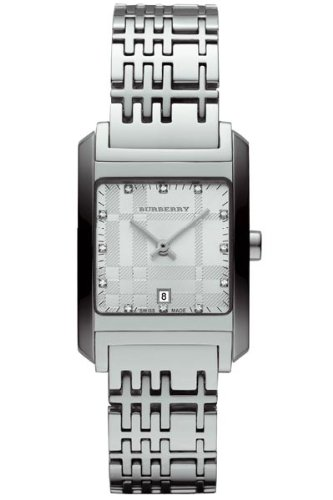 Burberry BU1583 Women's Silver Tone Stainless Steel Diamond Inset Watch