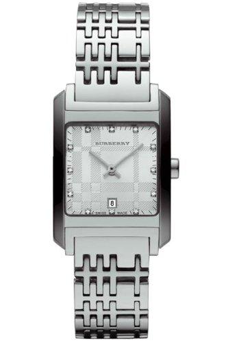 Burberry BU1583 Women's Silver Tone Stainless Steel Diamond Inset Watch
