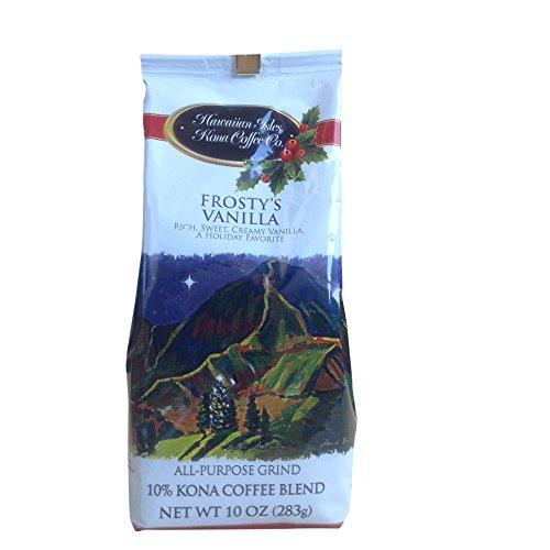 Kona Isles Coffee Xmas Frosty'S Vanilla Coffee - Ground 10 Oz Limited Edition Gluten Free Kosher Certified