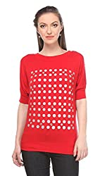 Wearsense Women's Top (Red, Medium)