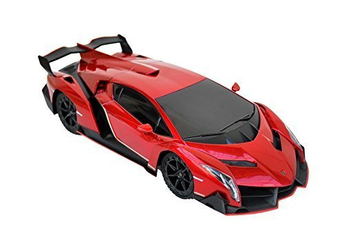 1/18 Scale R/C Lamborghini Veneno SuperCar Radio Faraway Regulate Type Automotive RC (Purple)