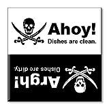 Pirate Clean Dishwasher Magnet 2.5