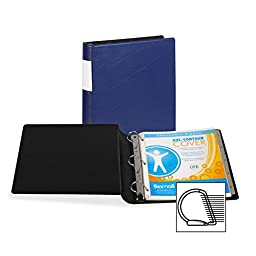 Samsill DXL/Contour Cover Ergonomic Binder, D-Ring, 1.5-Inch, Navy (17652)