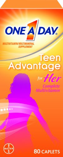 One-A-Day Teen Advantage For Her Multivitamin 80-Caplets, (Pack Of 2)