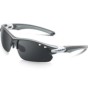 Woolike スポーツサングラス 偏光サングラス UV400 紫外線カット