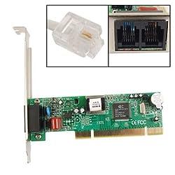 Gino Dual RJ11 Socket 56K V9.2 V9.0 PCI Phone Fax Modem Card