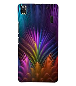 ColourCraft Lovely Colourful Design Back Case Cover for LENOVO A7000 PLUS