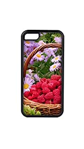 Multicolor Flower Painting Designer Mobile Case/Cover For iPhone 5c 2D black