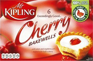 Mr Kipling Cakes - Cherry Bakewells - 6 Pack English Cakes