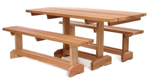 3 pc. Cedar Market Table ( 8 person)
