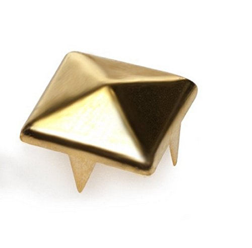 100pcs-4-prongs-pyramid-studs-gold