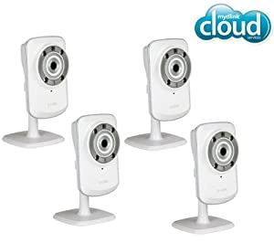 D-LINK Pack of 4 IP cameras mydlink Wireless-N + DCS-932L with Night Vision