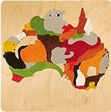 GEORGE LUCK(イギリス)木製パズル「MAPオーストラリア」専用額付
