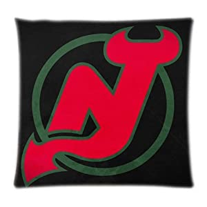 UK-Jewelry Jersey Devils Wallpaper Custom Print Bedding Set Cover Druable Best Comfort Case Pillow Case 18x18 Inch from UK-Jewelry