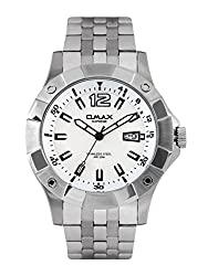 Omax Analog White Dial Men Watch