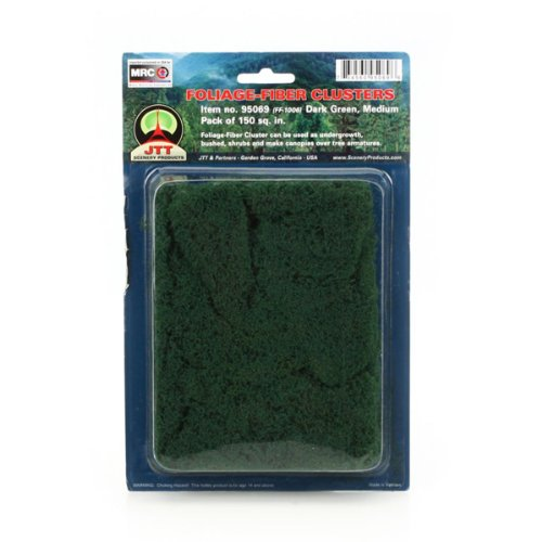 JTT Scenery Products Foliage-Fiber Cluster: Dark Green, Medium