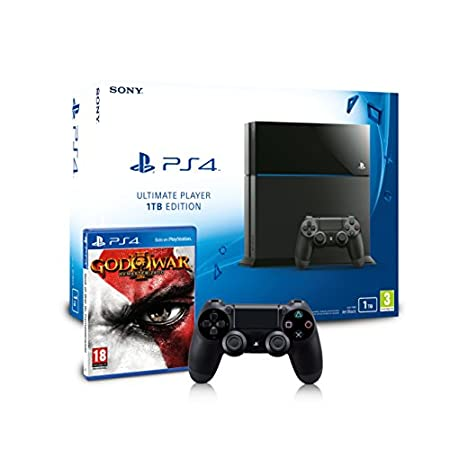 PlayStation 4 - Consola 1TB + God of War 3 - Remasterizado + Mando DualShock 4 Adicional