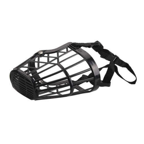 Micromall Nylon Basket Cage Adjustable Pet Dog Muzzle Black Size-6
