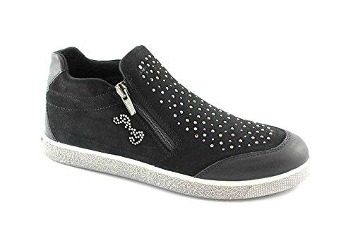 PRIMIGI 46121 36/39 nero scarpe bambina sneakers tipo slip on zip 38