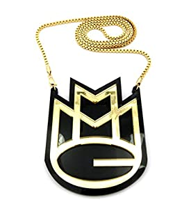 Solid MMG Mayback Music Pendant w/ 3mm 30
