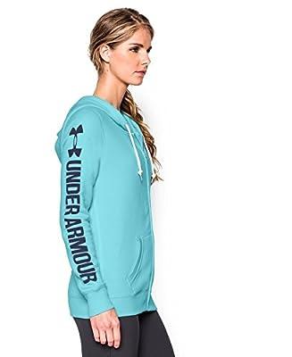 Under Armour Women's UA Favorite Fleece Word Mark Full Zip Hoodie