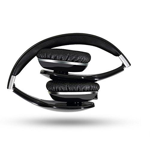 AUSDOM 敬老の日 プレゼントワイヤレス ヘッドホン ブルートゥース ヘッドフォン Bluetooth ヘッドホン 折り畳み式 軽量 M07 ブラック