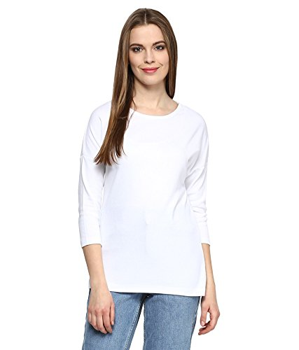 Hypernation-White-Color-Round-Neck-Cotton-T-shirt