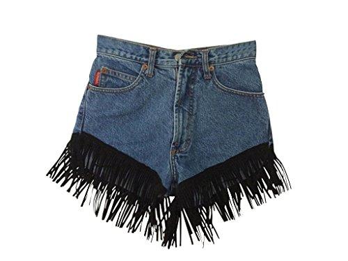 Women's High Waisted Vintage Wrangler's Blue Denim Black Summer Short-XXXL (Vintage High Waisted Jean Shorts compare prices)