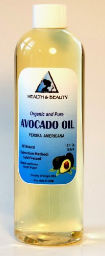 Avocado Oil Organic Carrier Cold Pressed 100% Pure 24 oz