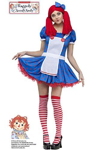 8eighteen Rag Doll Sassy Raggedy Ann Adult Costume (Gothic Rag Doll Costume Plus Size)