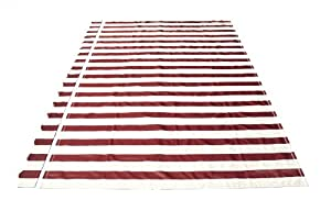Aleko® Awning Fabric Replacement 12x10 Ft for Retractable Awning, MULTISTRIPE RED by ALEKO