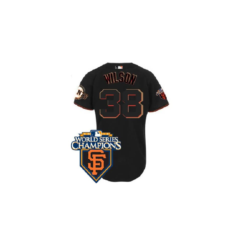 Wholesale New San Francisco Giants #38 Brian Wilson Black