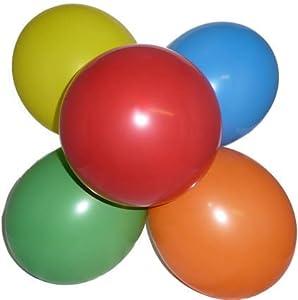 100 Stück bunt Latex - Luftballons, Helium geeignet, 75/85 cm Umfang
