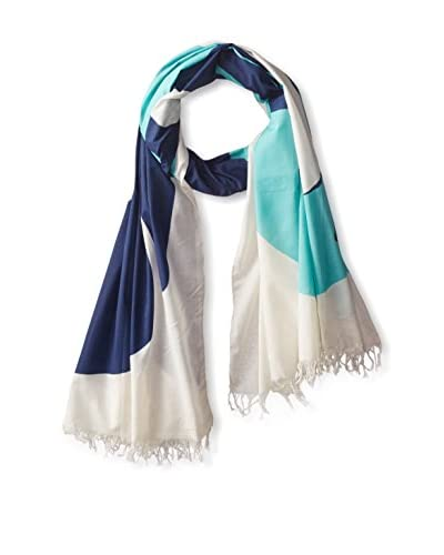Thomas Paul Women's Whale Shawl, Aqua