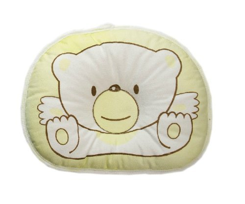 Lowest Prices! UZZO Cute Bear Stereotypes pillow Newborn Baby Boy Girl kids Anti-roll Pillow Sleepin...