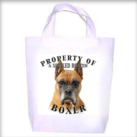 Boxer Cropped Property Shopping - Dog Toy - Tote Bag