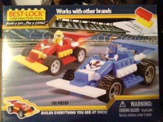 Best-Lock Race Car Set 160 Pieces Age 3