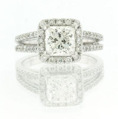 2.32ct Princess Cut Diamond Engagement Anniversary