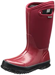 Bogs Classic Solid Waterproof Insulated Rain Boot (Toddler/Little Kid/Big Kid), Red,8 M US Toddler