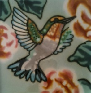 Amazon Hummingbird Decorative Ceramic Wall Art Tile