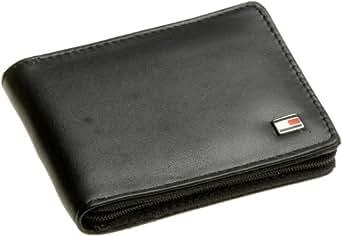 Tommy Hilfiger Men's Oxford Zip Around Wallet,Black,One Size