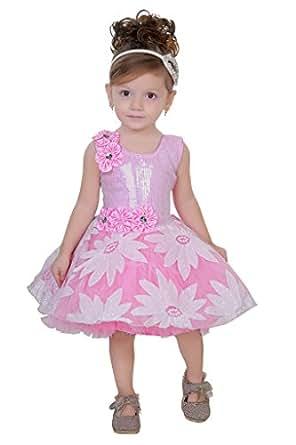 Be 13 Baby Pink Net Girl s Frock Amazon Clothing