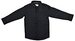 Zedd Boys' Cotton Shirt (E-C Zks1059B_22, Black, 22)